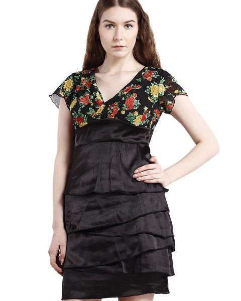 EMPIRE LINE DRESS WITH FLORAL PRINT-0