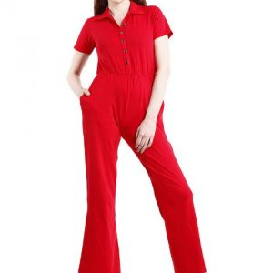 RED JUMPSUIT WITH COLLAR-0