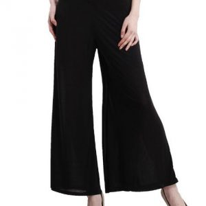 BLACK PALAZZO TROUSERS-0