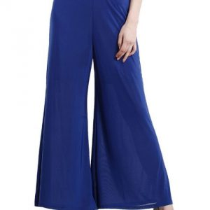 BLUE PALAZZO TROUSERS-0