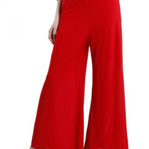 RED PALAZZO TROUSERS-0