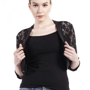 BLACK LACE SHRUG-0