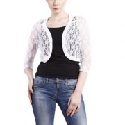 WHITE LACE SHRUG-4417