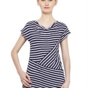 NAVY AND WHITE STRIPED TOP-3735
