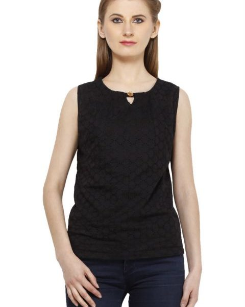 BLACK COTTON TOP-0