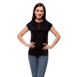 Peptrends Black Zipper Top-0