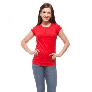 Peptrends Red Zipper Top-0
