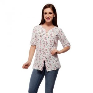 Peptrends White Floral Top-0