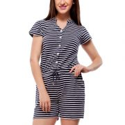 Peptrends navy and white striped jumpsuit-4250