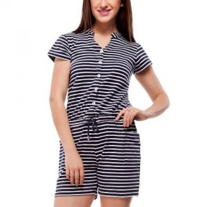 Peptrends navy and white striped jumpsuit-0