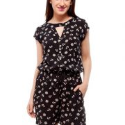 Peptrends black printed jumpsuit-4218