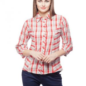 Peptrends Red & Grey Check Shirt-0