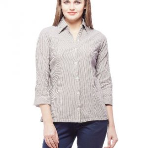 Peptrends Black Striped Shirt-0