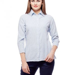 Peptrends Blue Striped Shirt-0