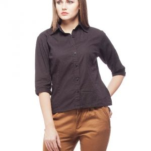Peptrends Black Solid Shirt-0