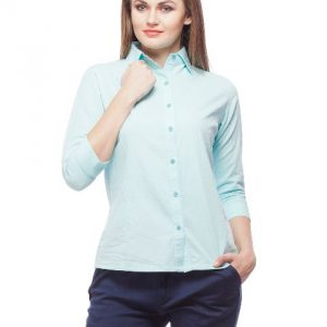 Peptrends Blue Solid Shirt-0