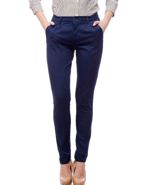Peptrends Blue Pleated Trouser-0