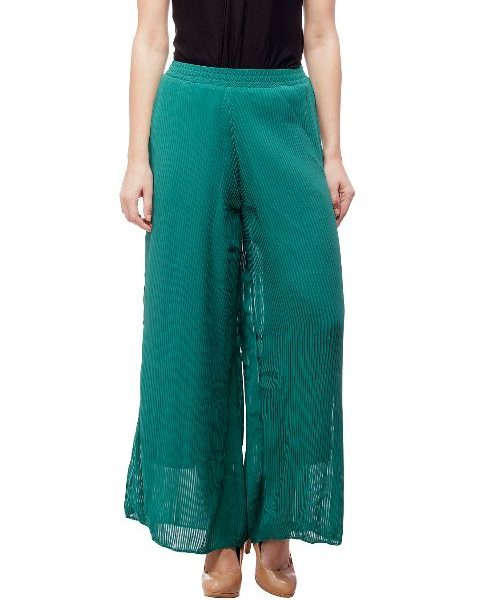 Peptrends Green Palazzo Trouser-0