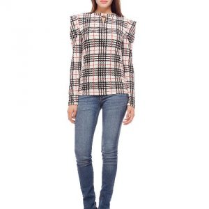 Peptrends White Check Top-0