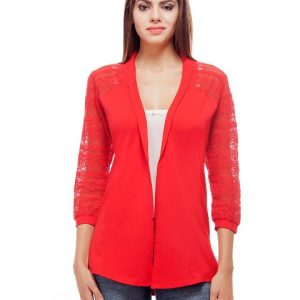 Peptrends Long Red Net Shrug-0