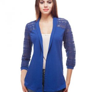 Peptrends Long Blue Net Shrug-0