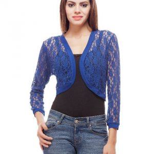 Peptrends Short Blue Net Shrug-0