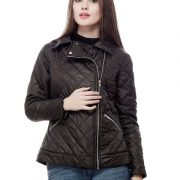 Peptrends Zipper Quilted Black Jacket-4303
