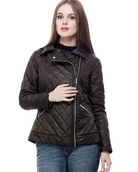Peptrends Zipper Quilted Black Jacket-0