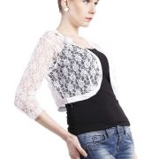 WHITE LACE SHRUG-4418