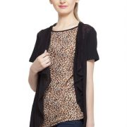 BROWN AND BLACK ANIMAL PRINT TOP-3861