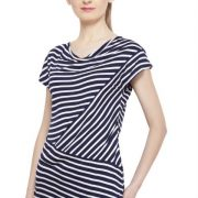 NAVY AND WHITE STRIPED TOP-3736