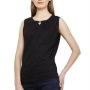 BLACK COTTON TOP-3652