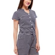 Peptrends navy and white striped jumpsuit-4251