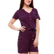 Peptrends magenta and black striped jumpsuit-4227