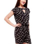 Peptrends black printed jumpsuit-4219