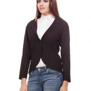 Peptrends Single button black blazer-4395