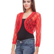 Peptrends Short Red Net Shrug-4352