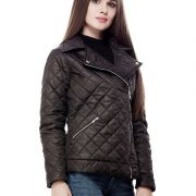 Peptrends Zipper Quilted Black Jacket-4304