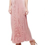 Peptrends Pink Pleated Long Skirt-4430