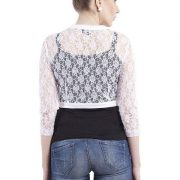 WHITE LACE SHRUG-4419