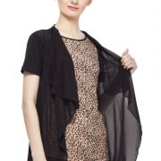 BROWN AND BLACK ANIMAL PRINT TOP-3862