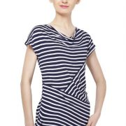 NAVY AND WHITE STRIPED TOP-3737
