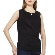 BLACK COTTON TOP-3653