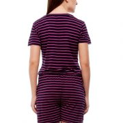 Peptrends magenta and black striped jumpsuit-4228