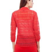 Peptrends Long Red Net Shrug-4380