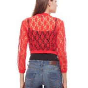 Peptrends Short Red Net Shrug-4353