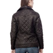 Peptrends Zipper Quilted Black Jacket-4305