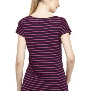 MAGENTA AND BLACK STRIPED TOP-3747