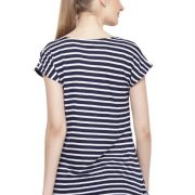 NAVY AND WHITE STRIPED TOP-3738