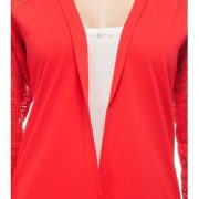 Peptrends Long Red Net Shrug-4381